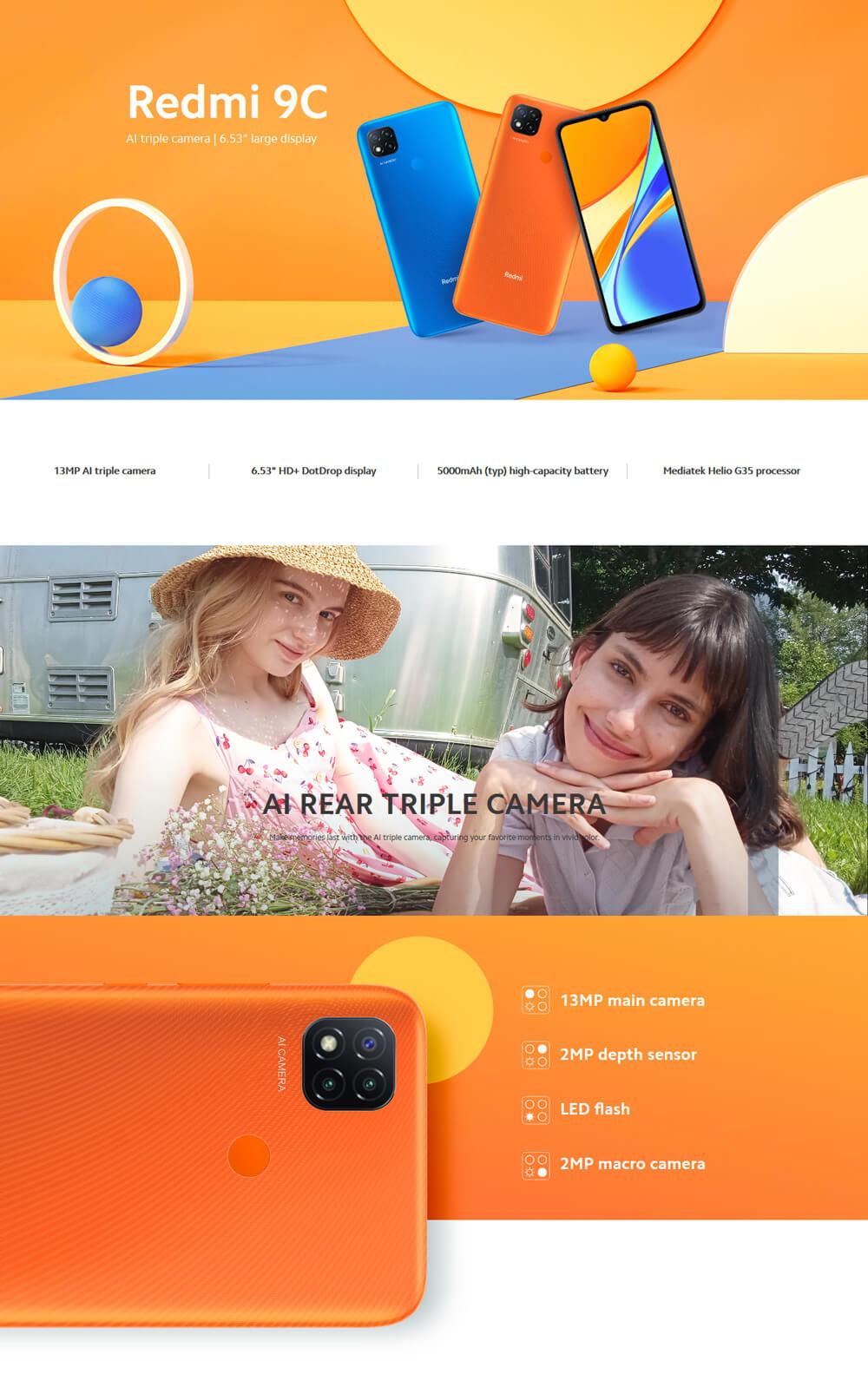 گوشی موبایل شیائومی مدل Redmi 9C دو سیم کارت - Xiaomi Redmi 9C