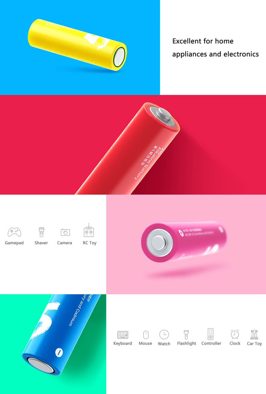 باتری قلمی آلکالاین شیائومی مدل ZI5 بسته 10 عددی - Xiaomi ZI5 Alkaline AA Battery Pack Of 10