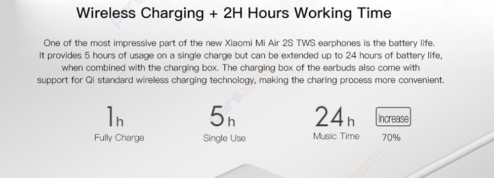 هندزفری بلوتوث دوگوش شیائومی Xiaomi Mi Air 2s / Earphone 2s TWSEJ05WM