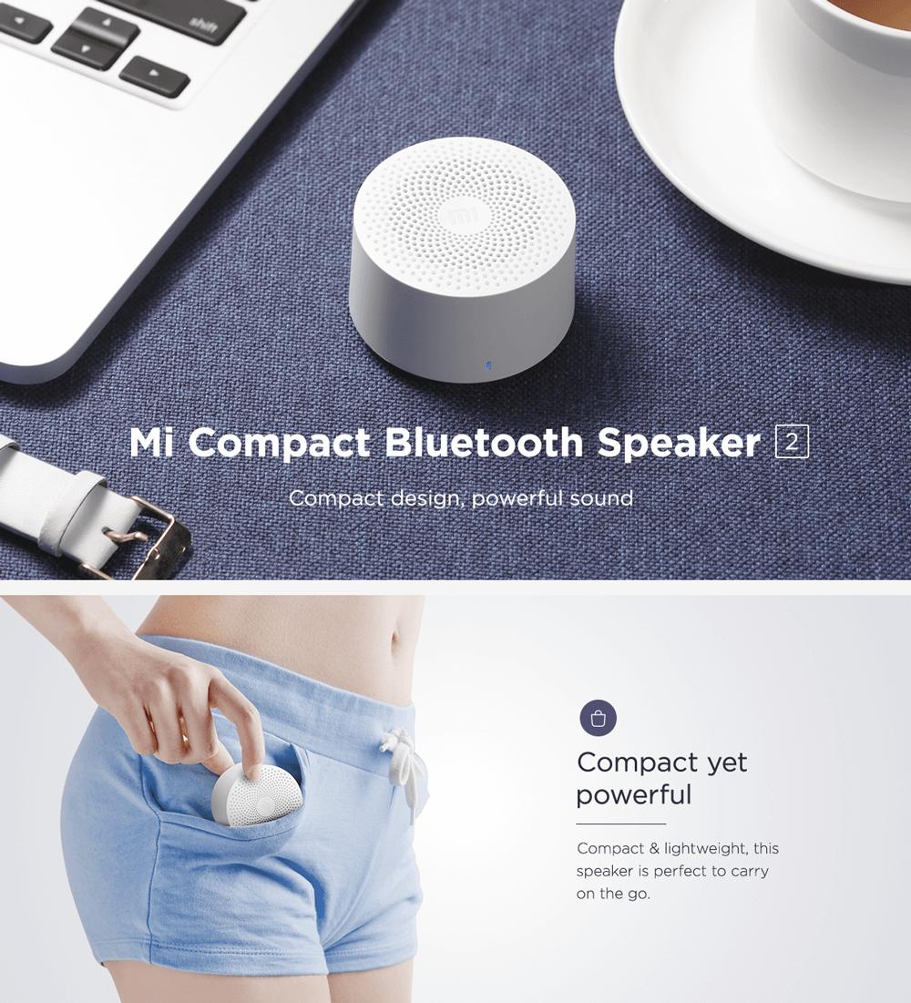 اسپیکر بلوتوث کوچک نسل 2 شیائومی - Xiaomi Mi Portable Bluetooth Speaker 2