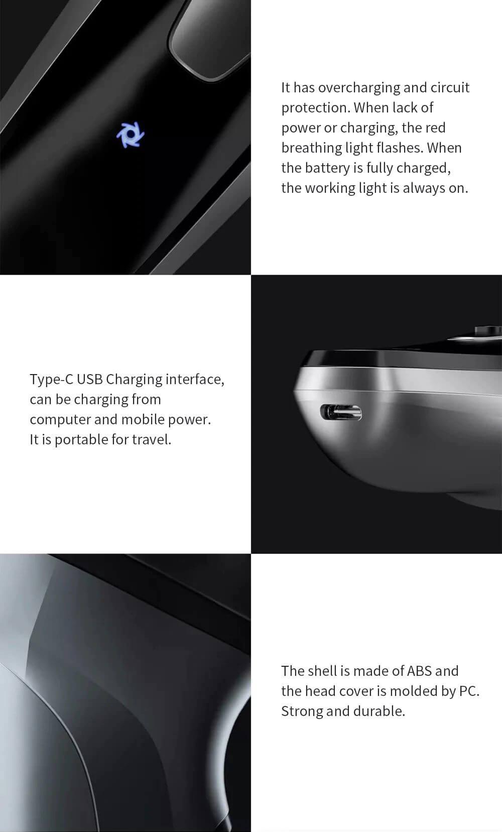 ماشین اصلاح موی صورت ای ان سی چی ان مدل Blackstone