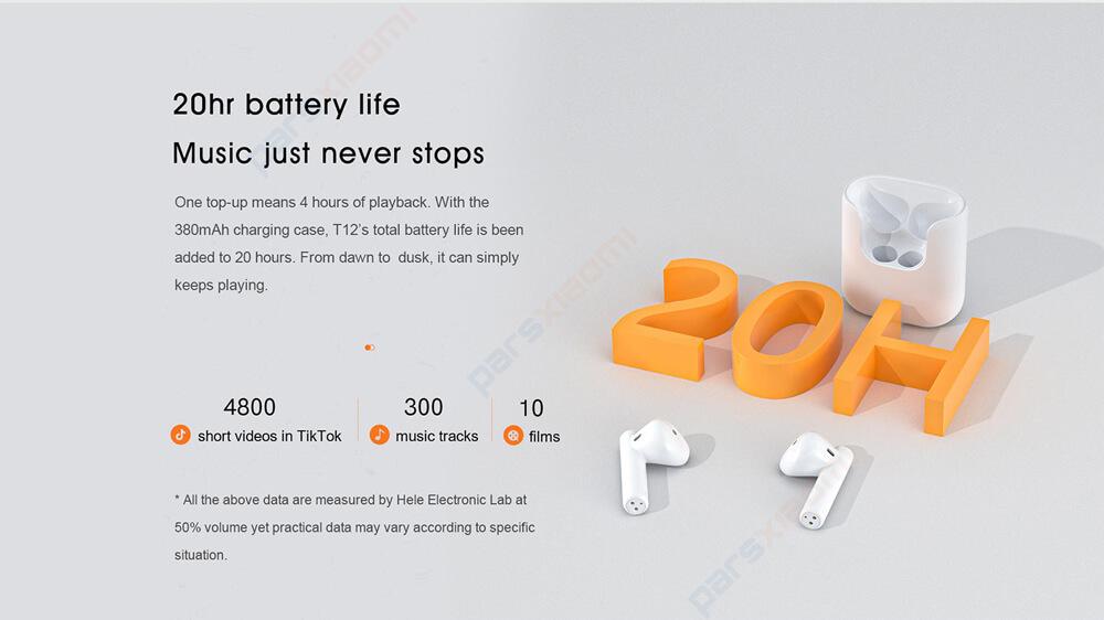 هدفون بلوتوثی کیو سی وای مدل T12 - QCY T12 True Wireless Earphones
