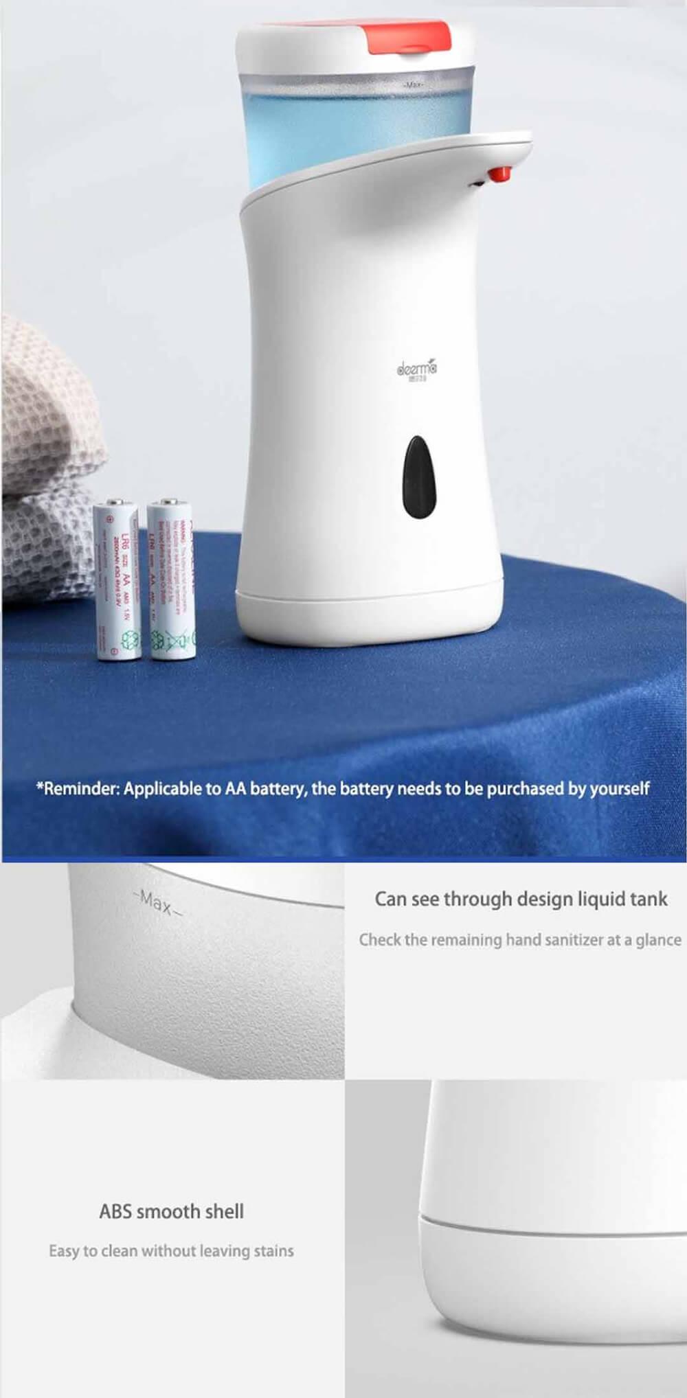 پمپ مایع دستشویی اتوماتیک درما مدل Xiaomi Deerma hand Wash Basin Dem-XS100 Smart Hand
