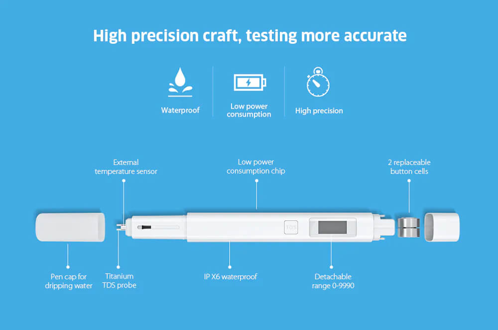 قلم تست کیفیت آب TDS Pen شیائومی مدل XMTDS01YM