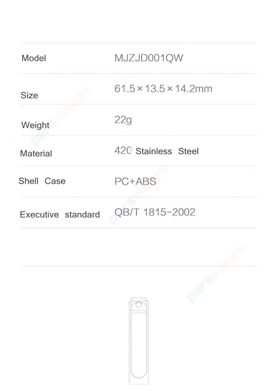 ناخن گیر شیائومی مدل Xiaomi Mijia Nail Clipper Anti-splash MJZJD001QW