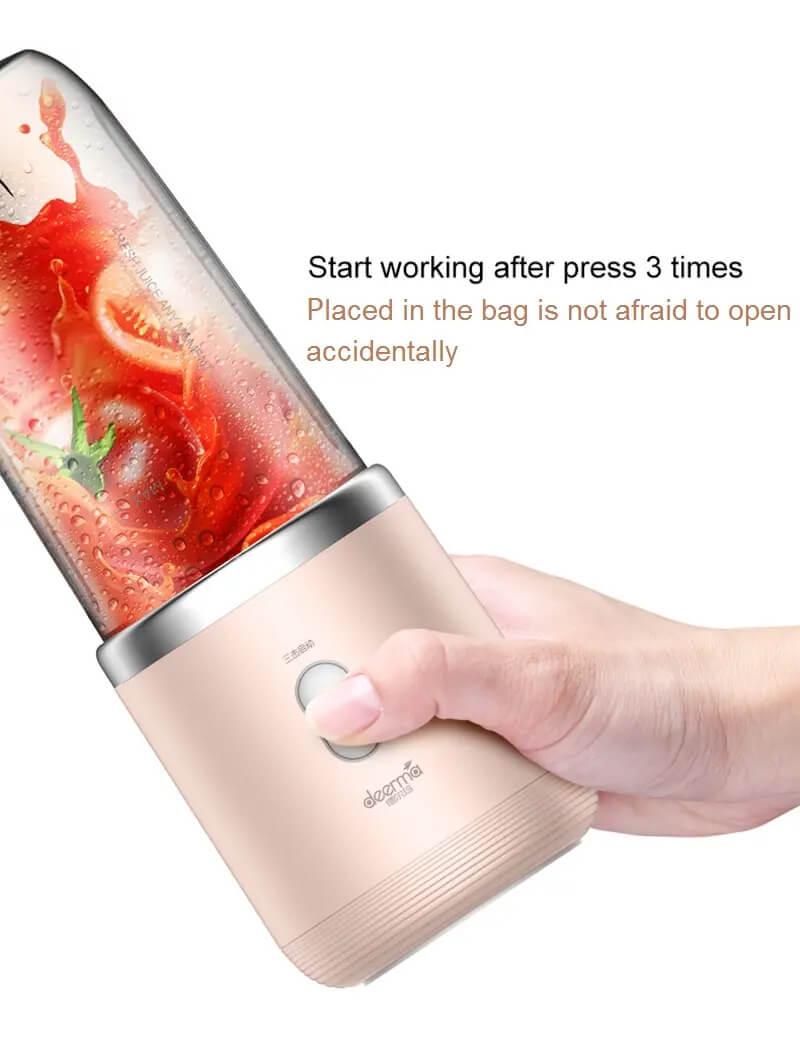 مخلوط کن درما مدل NU05 - Xiaomi Deerma Mini Juice Blender Operating DEM-NU05