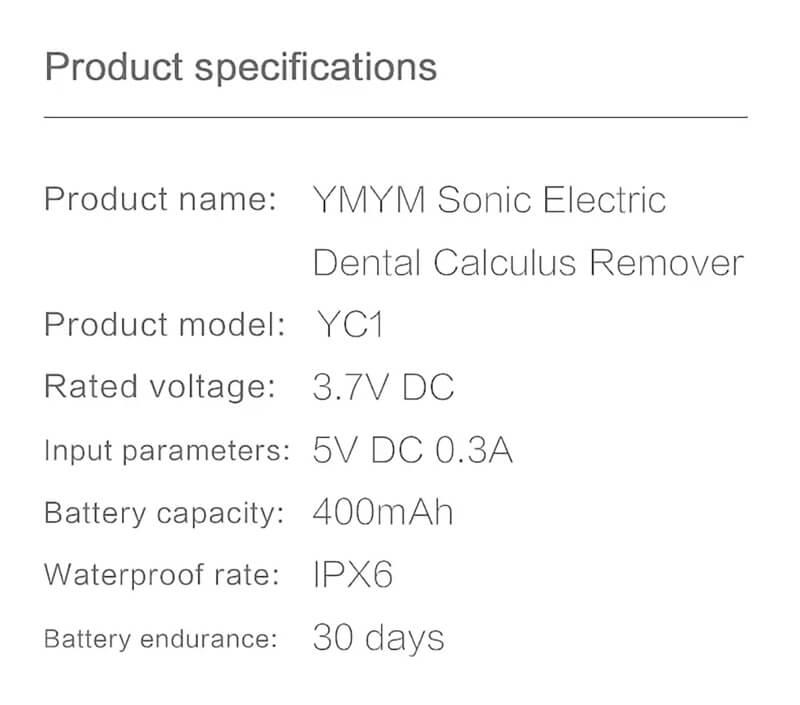 دستگاه جرم گیر دندان YMYM مدل YC1