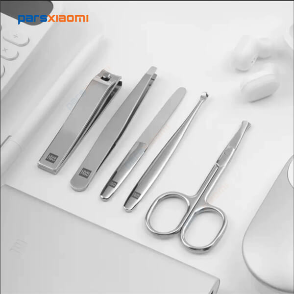 ست مانیکور و ناخن گیر شیائومی HU0061‏ - Huohou Portable Travel Hygiene Kit Nail Cutter Tool Sets HU0061