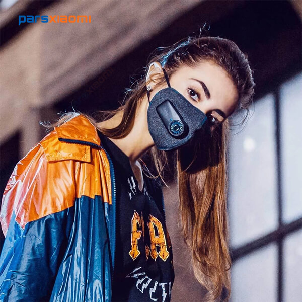 ماسک N95 فن دار شیائومی Xiaomi Purely Electric Face Mask Pm2.5 HZSN001