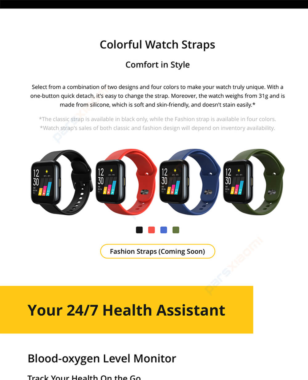 ساعت هوشمند ریلمی Realme Watch RMA161 Smart Watch نسخه گلوبال