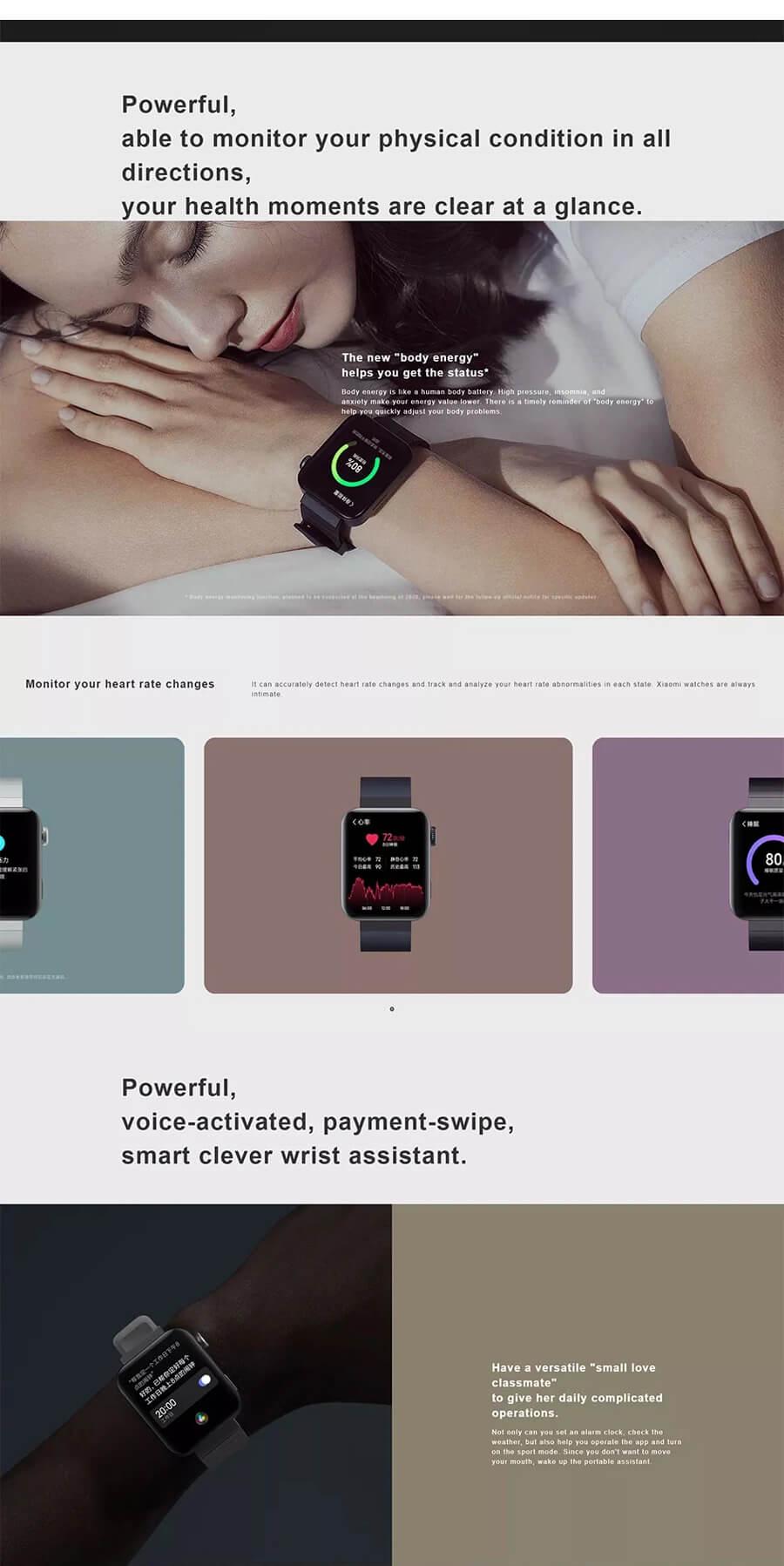 ساعت هوشمند شیائومی Mi Watch