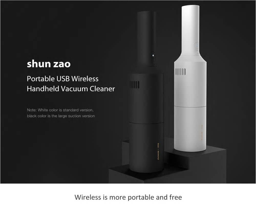 جارو شارژی ماشین شیائومی Xiaomi Shunzao Portable Vacuum Cleaner Z1 Series 90W توان 90 وات