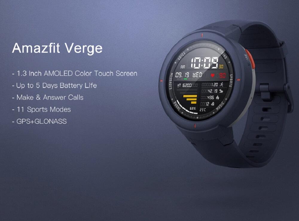 ساعت هوشمند شیائومی مدل آمازفیت ورج - Xiaomi Amazfit Verge