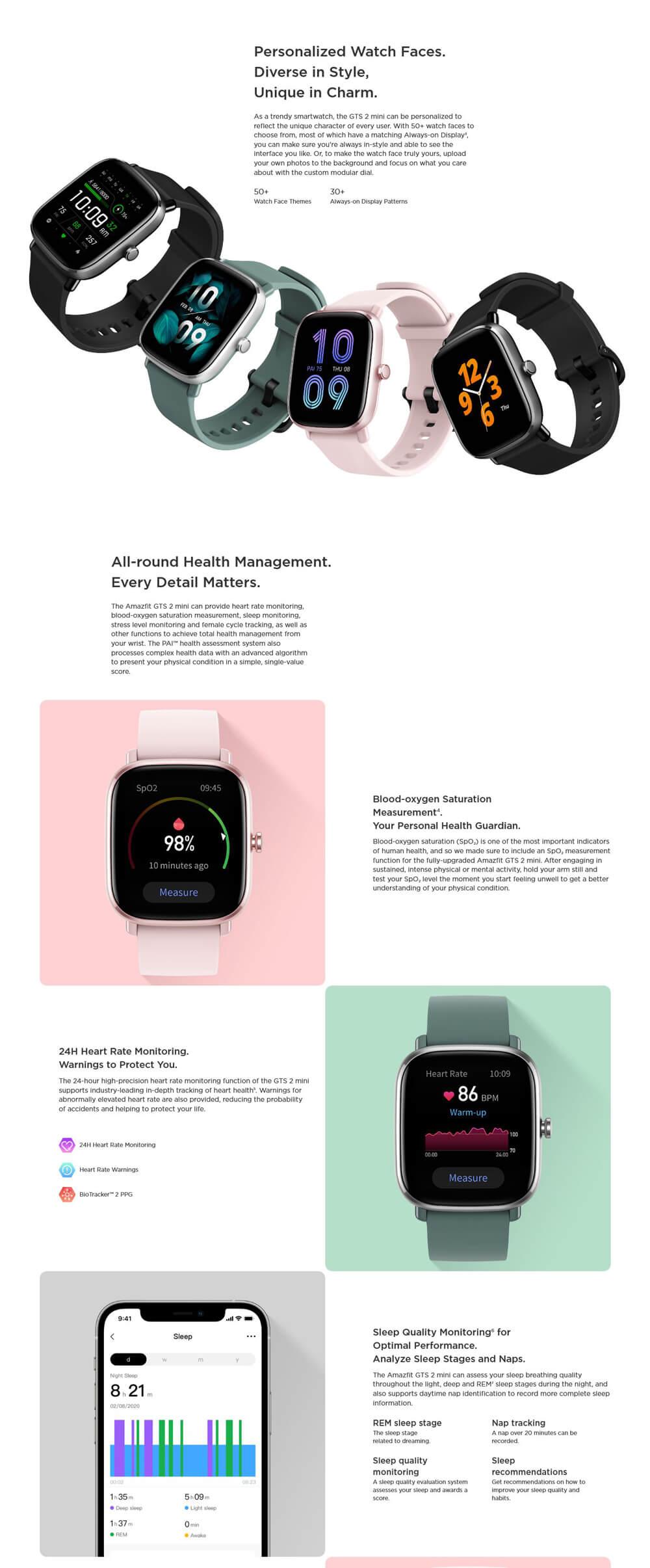 ساعت هوشمند شیائومی آمازفیت GTS 2 mini - Xiaomi Amazfit GTS 2 mini