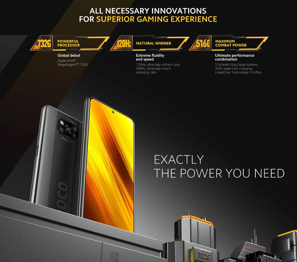 گوشی موبایل شیائومی POCO X3 NFC دو سیم کارت ظرفیت 128 گیگابایت و 6 گیگابایت رم