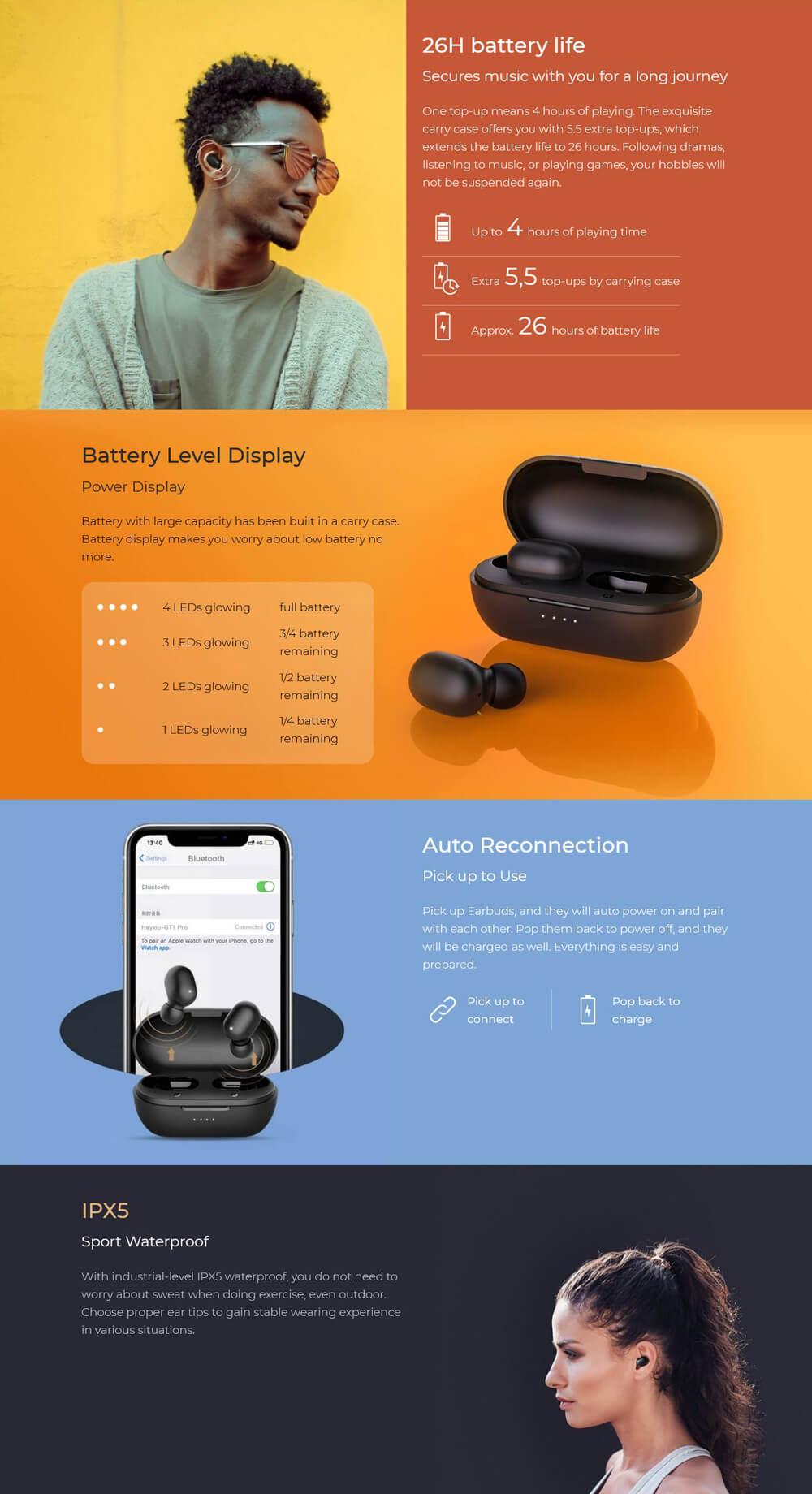 Haylou GT1 Pro TWS Bluetooth Earphones