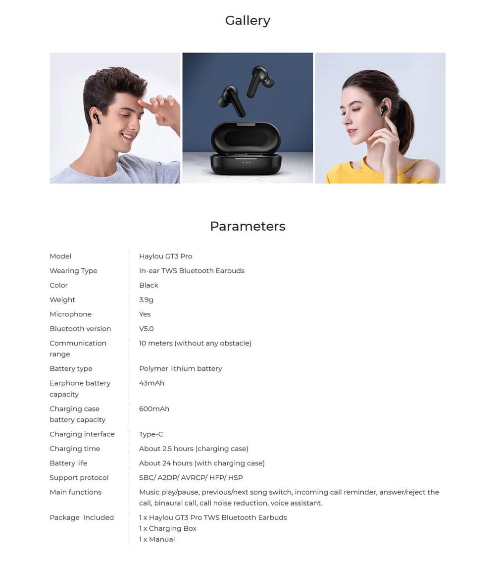 هندزفری بلوتوثی هایلو GT3 Pro - Haylou GT3 Pro Wireless Bluetooth Headset